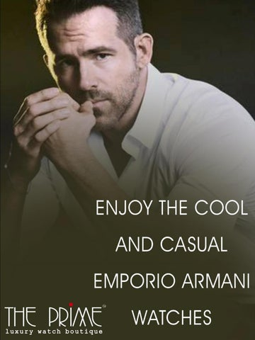 5ee09abf2f61 Enjoy The Cool And Casual Emporio Armani Watches
