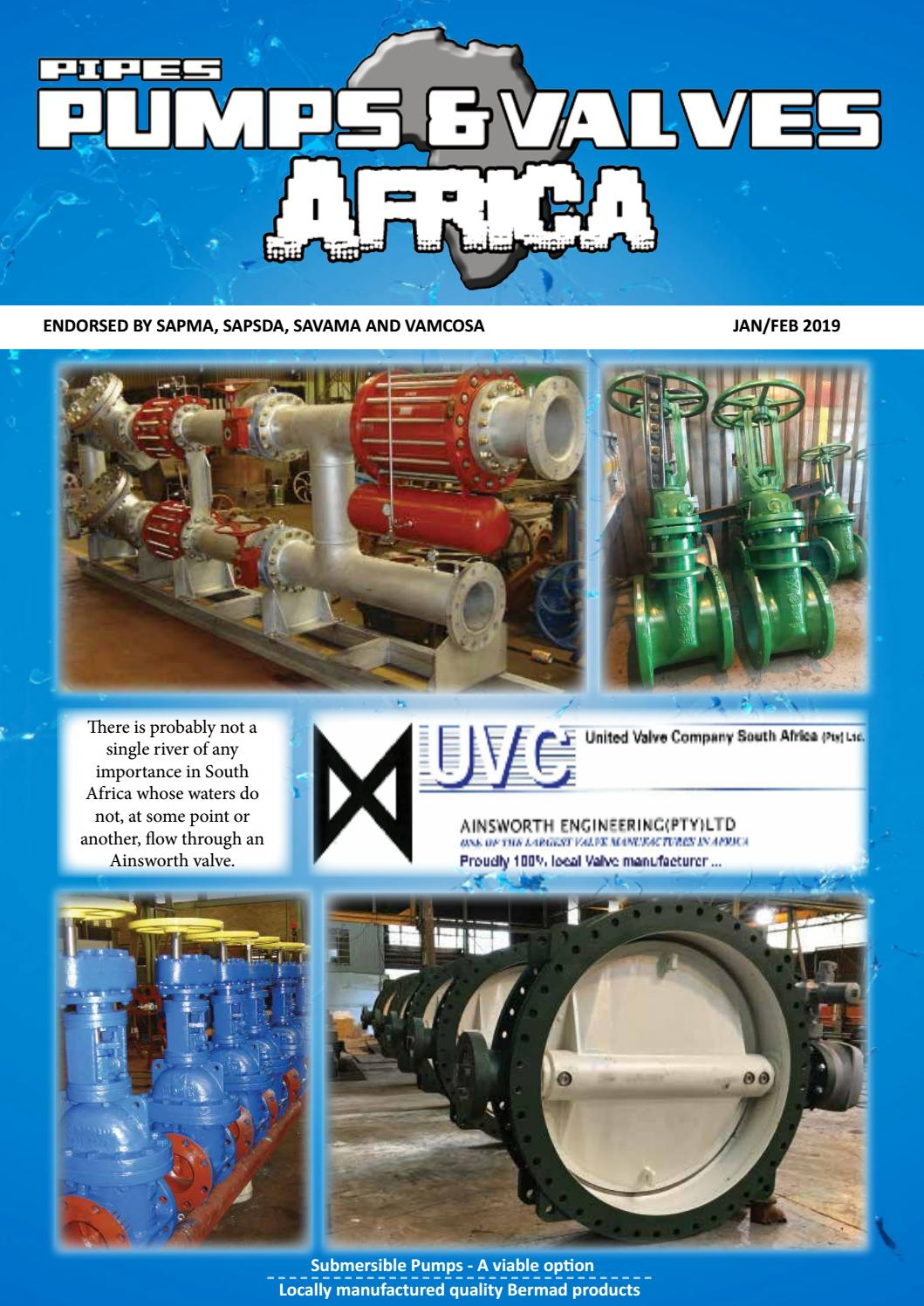 Pipes, Pumps & Valves Africa Jan-Feb 2019 by Lifting Africa