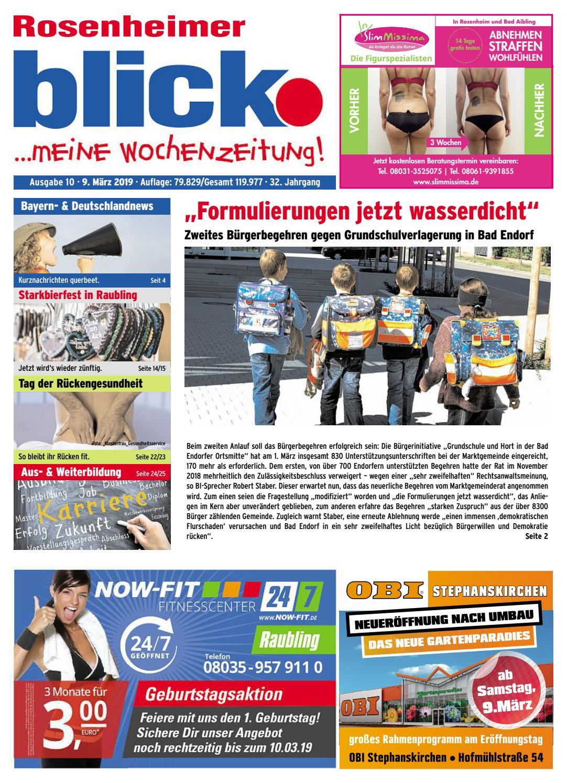 Rosenheimer blick Ausgabe 10 | 2019 by Blickpunkt Verlag