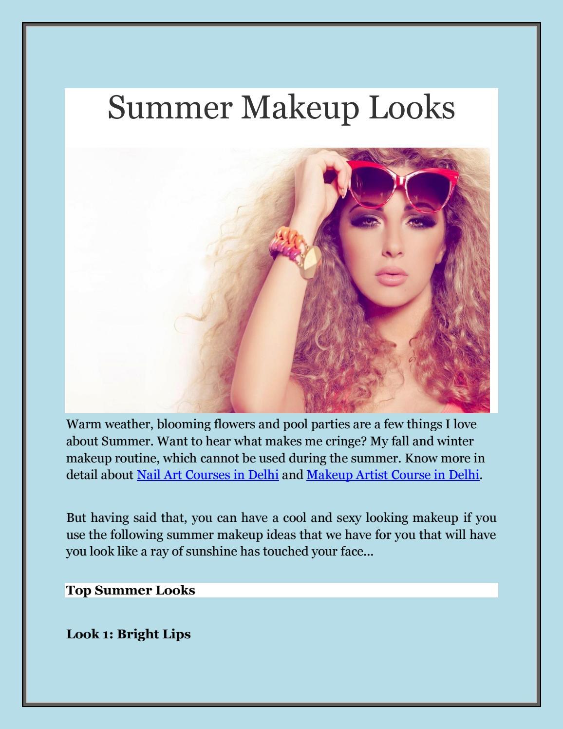 Summer Makeup Looks By Sabrina D Issuu