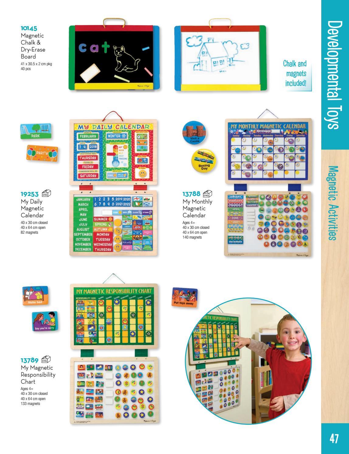 Melissa and Doug Monthly Magnetic Calendar NEW! 13788