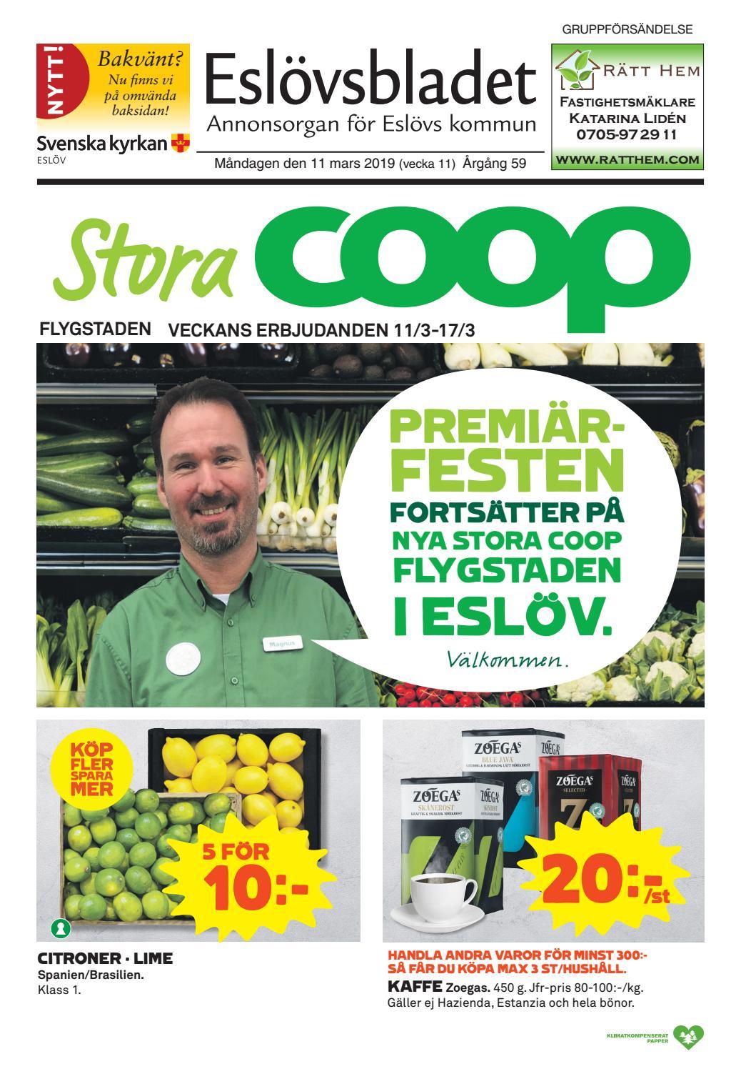 3fd11e8ee1a6 Eslövsbladet vecka 11 2019 by Krontryck - issuu