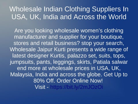 707a09d51d Wholesale Indian Clothing Suppliers In USA, UK, India and Across the World  Are you looking wholesale women's clothing manufacturer and  ...