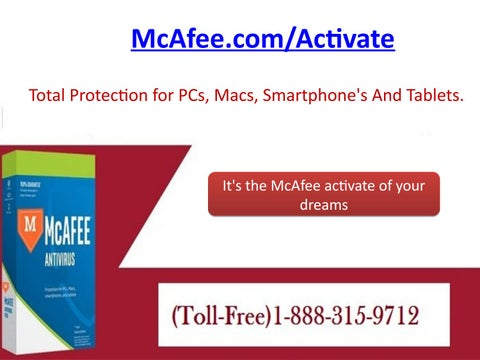 McAfee Activation Key| McAfee My Account @ 1-888-315-9712 by