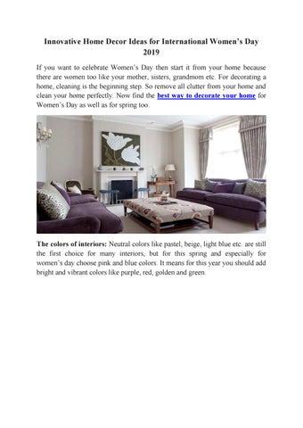 Innovative Home Decor Ideas For