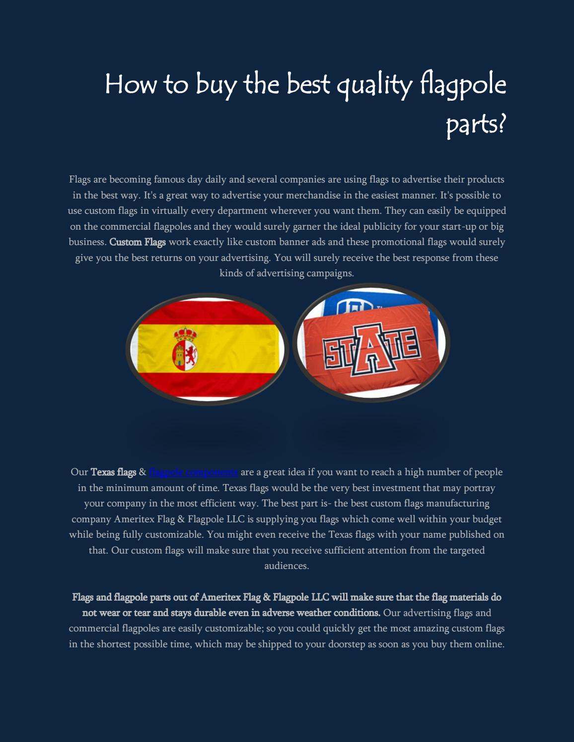 How to buy the best quality flagpole parts? by David Kelven