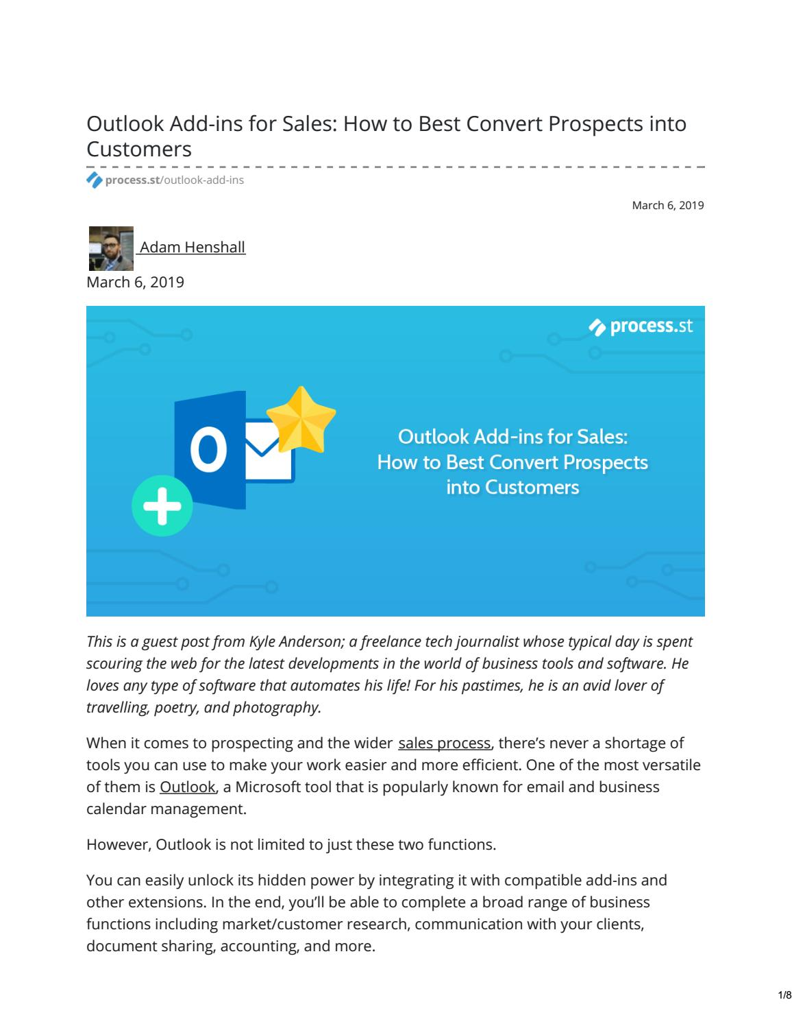 Outlook Add-ins for Sales: How to Best Convert Prospects