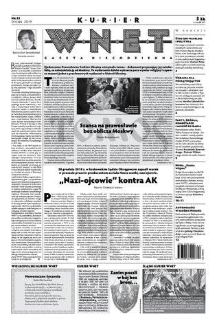 0a548e638130a3 Kurier WNET Gazeta Niecodzienna | Nr 55| Styczeń 2019 by KurierWNET ...