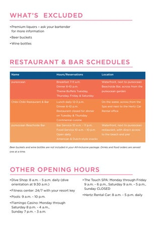 Page 6 of Restaurant Info & Hours of Opertation