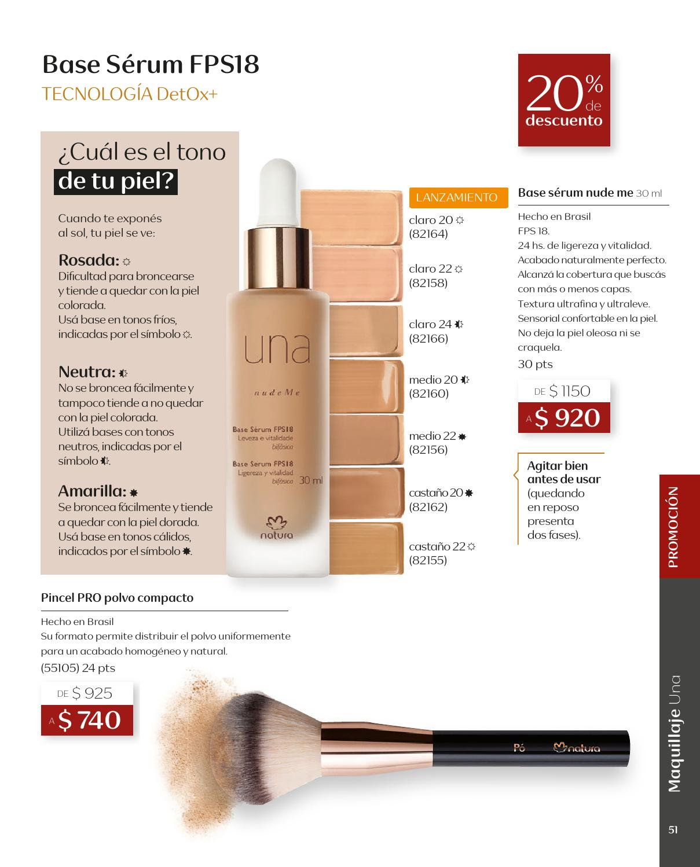 Natura cosméticos - Portal de maquillaje - Una - Base