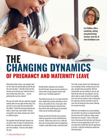 Page 4 of The Changing Dynamics of Pregnancy and Maternity Leave