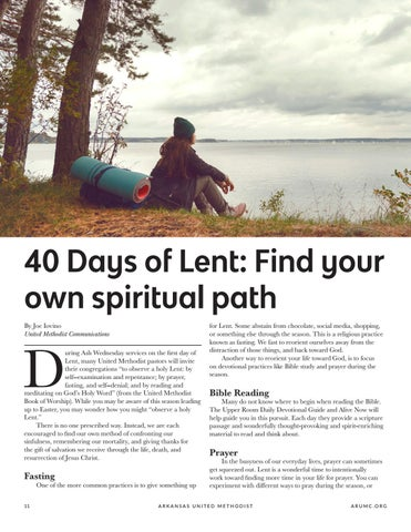 Page 12 of 40 Days of Lent: Find your own spiritual path