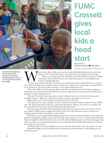 Page 14 of FUMC Crossett gives local kids a head start