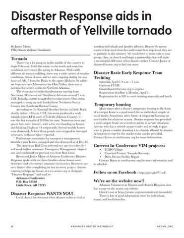 Page 30 of Disaster Response aids in aftermath of Yellville tornado
