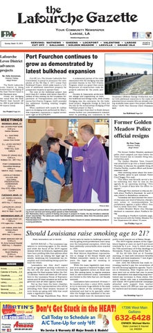 Sunday, March 10, 2019 THE LAFOURCHE GAZETTE by The Lafourche