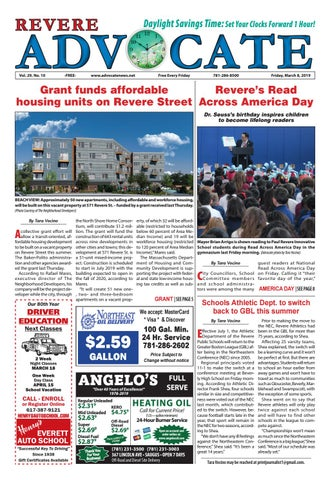 THE REVERE ADVOCATE - Friday, March 15, 2019 by Mike Kurov - issuu