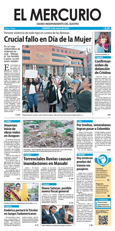 aa9e24906cf0f El Mercurio-08-03-2019 by Diario El Mercurio Cuenca - issuu