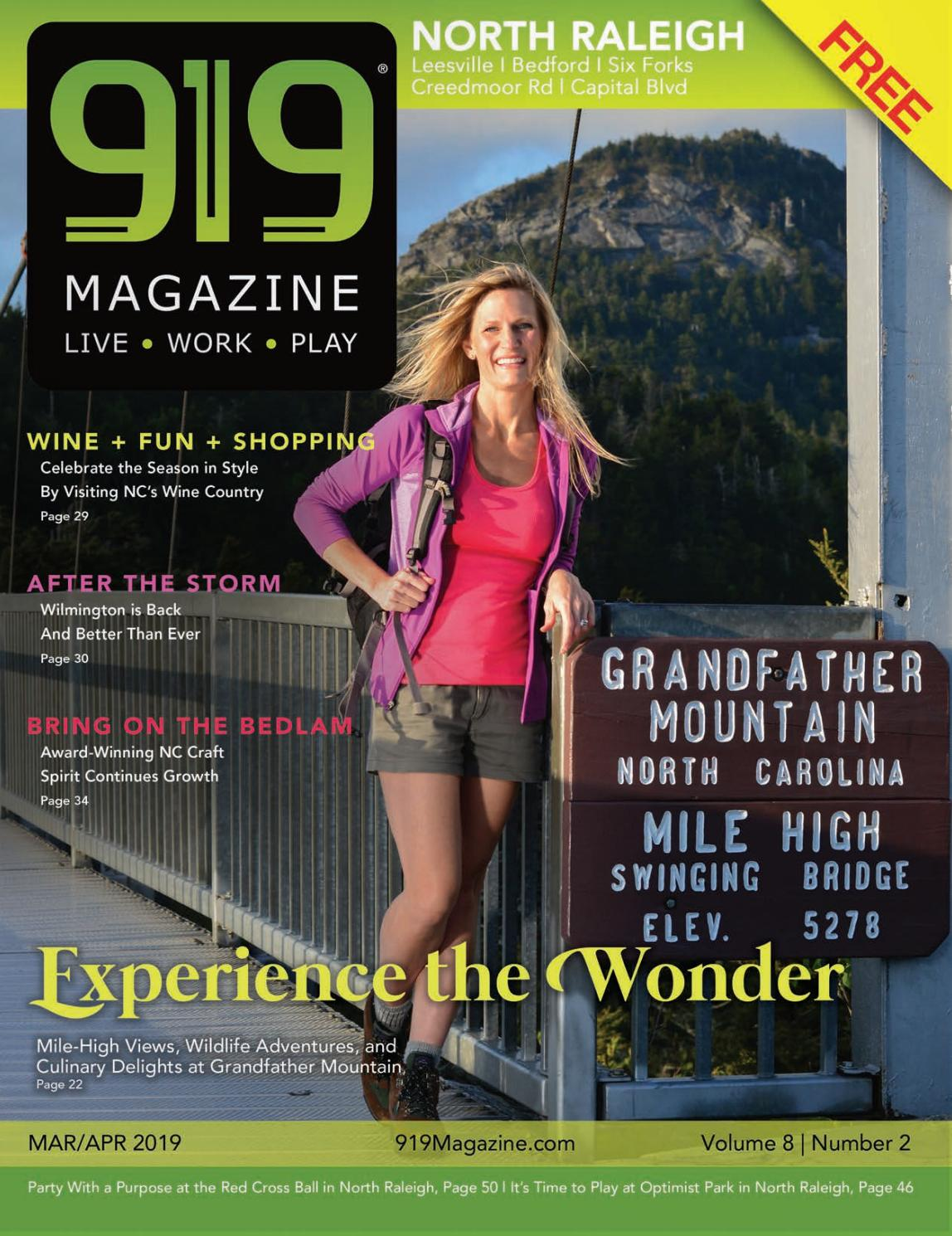 919 Magazine March/April 2019 North Raleigh|Six Forks