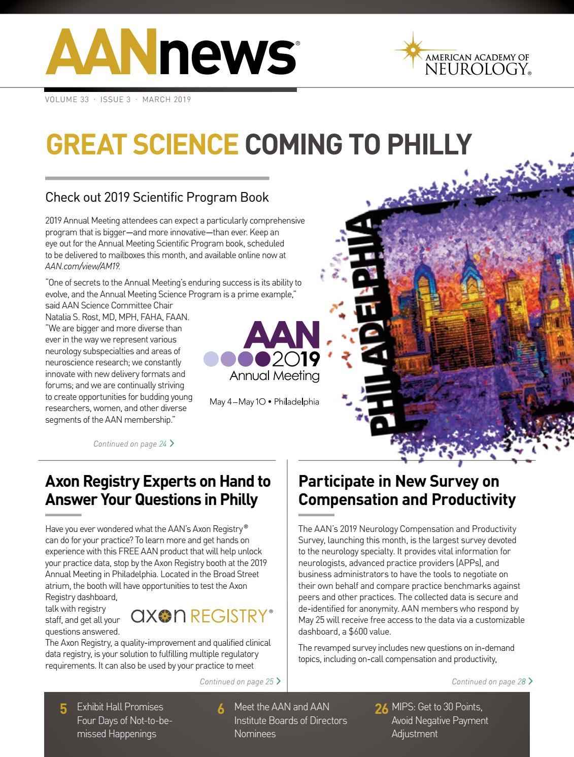 2019 Science Program by American Academy of Neurology issuu