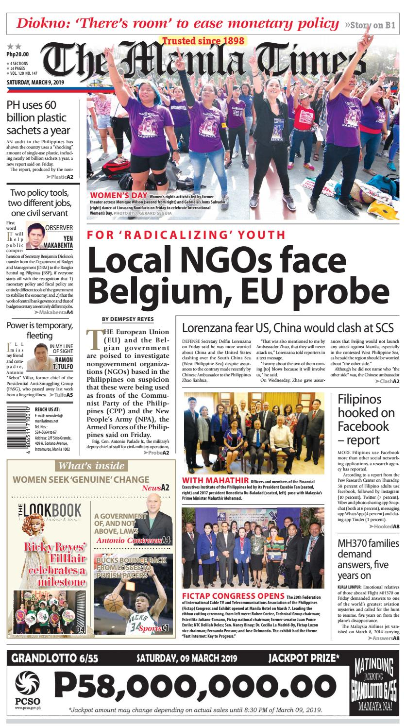 THE MANILA TIMES | MARCH 09, 2019 by The Manila Times - issuu