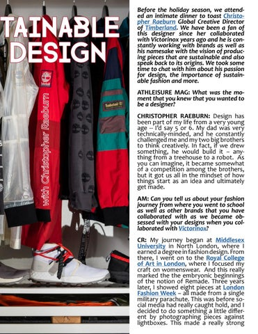 Page 53 of ATHLEISURE MAG FEB 2019 | SUSTAINABLE BY DESIGN WITH CHRISTOPHER RAEBURN