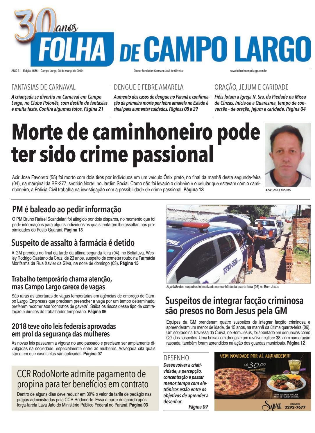 d8bd7e7e6d9 Folha de Campo Largo by Folha de Campo Largo - issuu