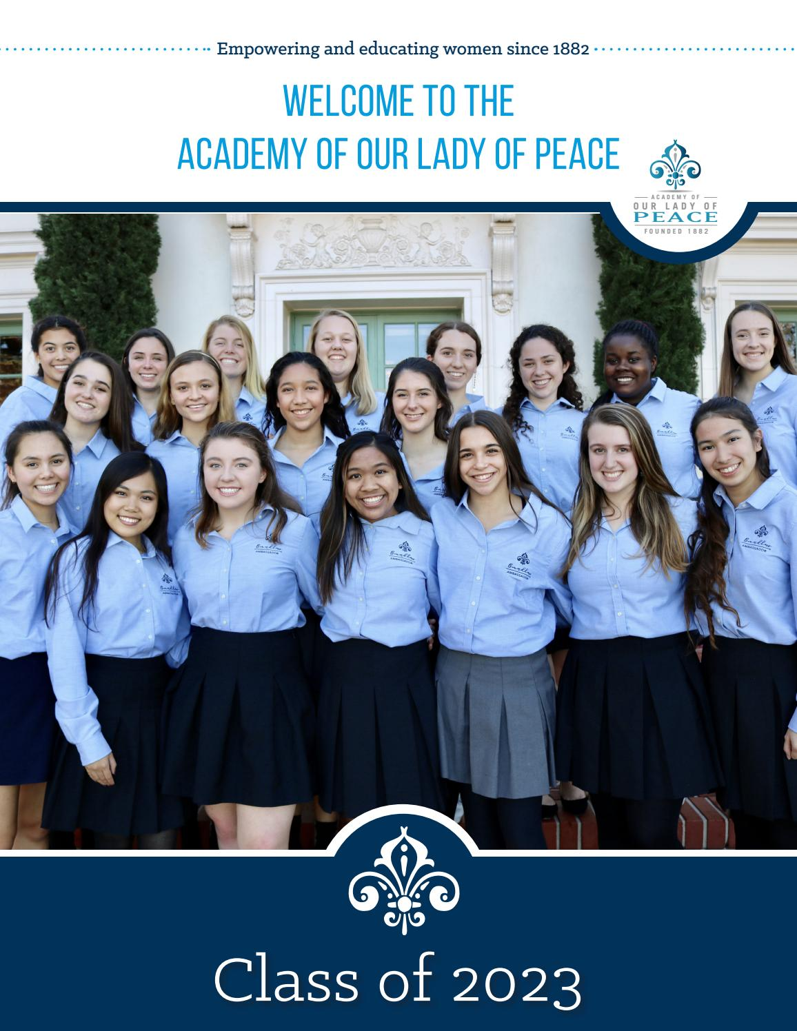 Class of 2023 Frosh Welcome Booklet by Academy of Our Lady