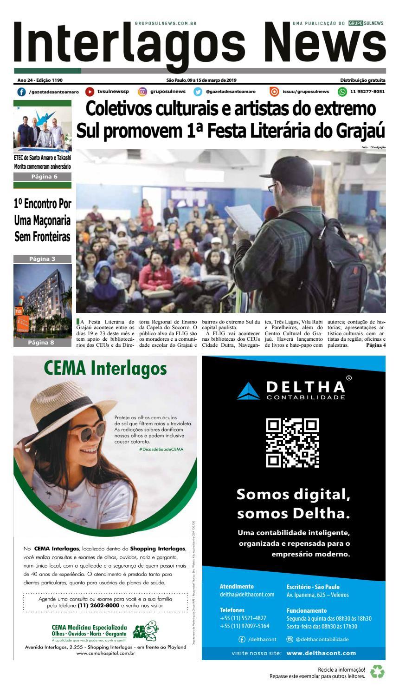 938ed30a72ceb INTERLAGOS NEWS - Edição 1190 - São Paulo, 09 a 15 de março de 2019 by  Grupo Sul News - issuu