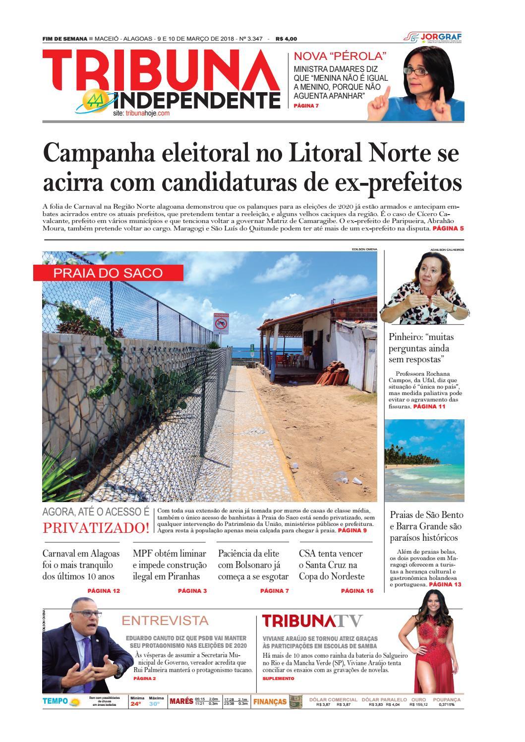 81e6bd78b7f25 Edição número 3347 - 9 e 10 de março de 2019 by Tribuna Hoje - issuu