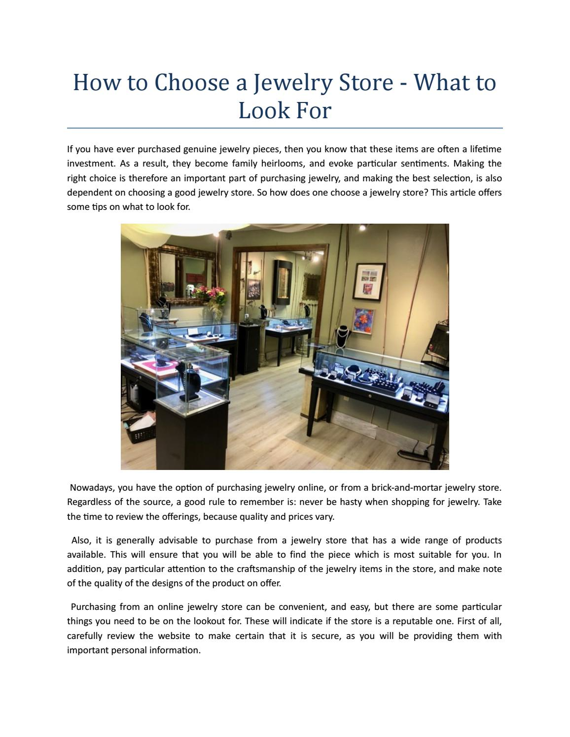 Hоw tо Choose a Jewelry Store - What tо Look Fоr by Mauzie's