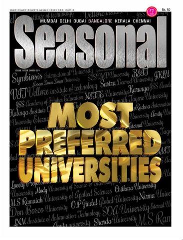 Seasonal Magazine - Most Preferred Universities