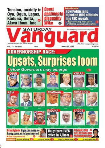 GOVERNORSHIP RACE: Upsets, Surprises loom by Vanguard Media Limited