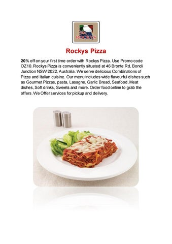 Rocky's Place Pizza- Bondi Junction- Order Food Online by