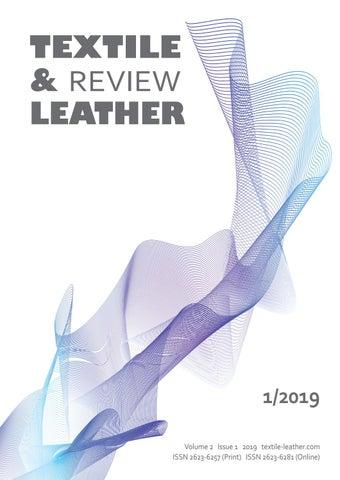Textile and leather rewiev 1 2019 by Suvremena trgovina - online - issuu