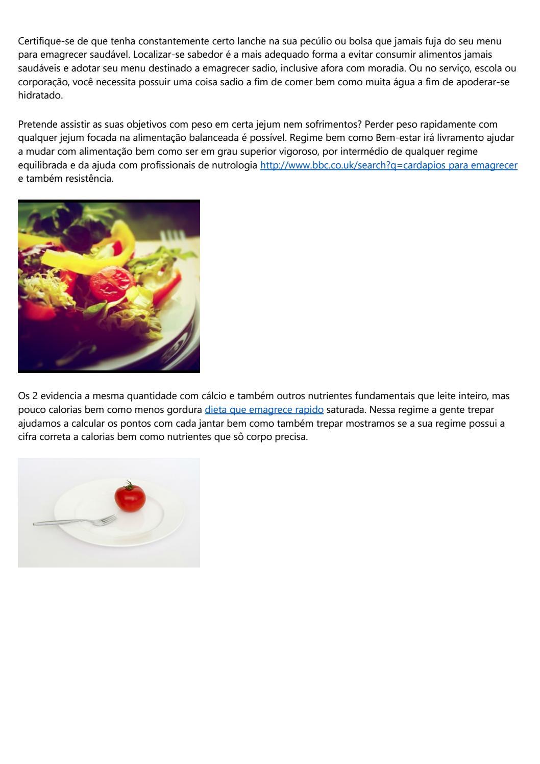 Cardapio dieta balanceada para perder peso