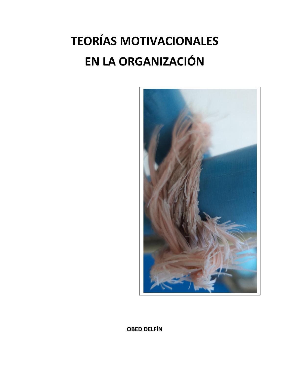Teorías Motivacionales En La Organización By Obed Delfin Issuu