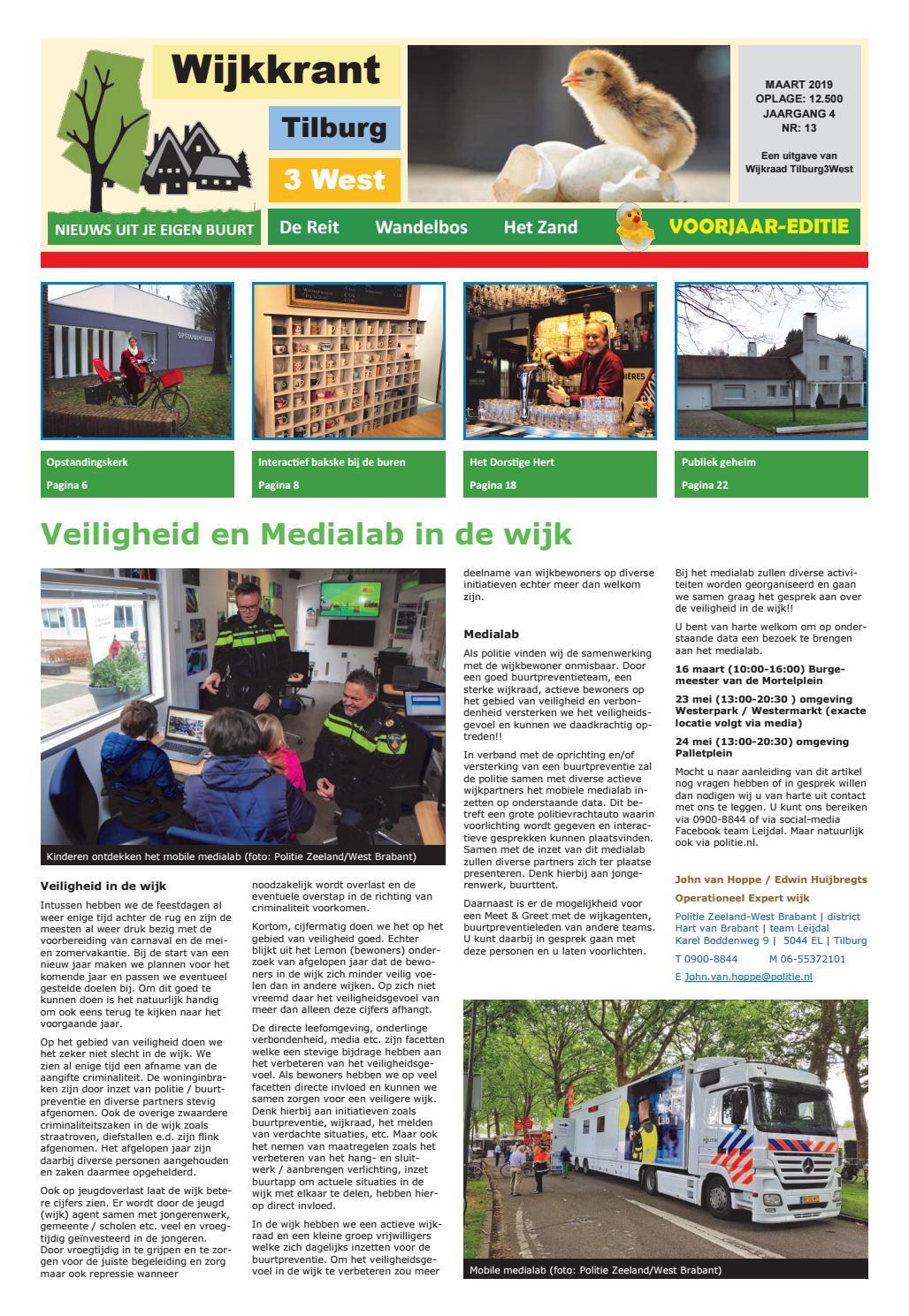 Wijkkrant voorjaar editie maart 2019 by Wijkraad Tilburg 3