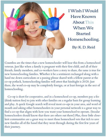 Page 15 of I wish I would have known THIS when we started homeschooling.