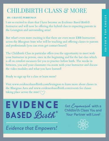 Page 6 of Evidence Based Birth® Childbirth Class
