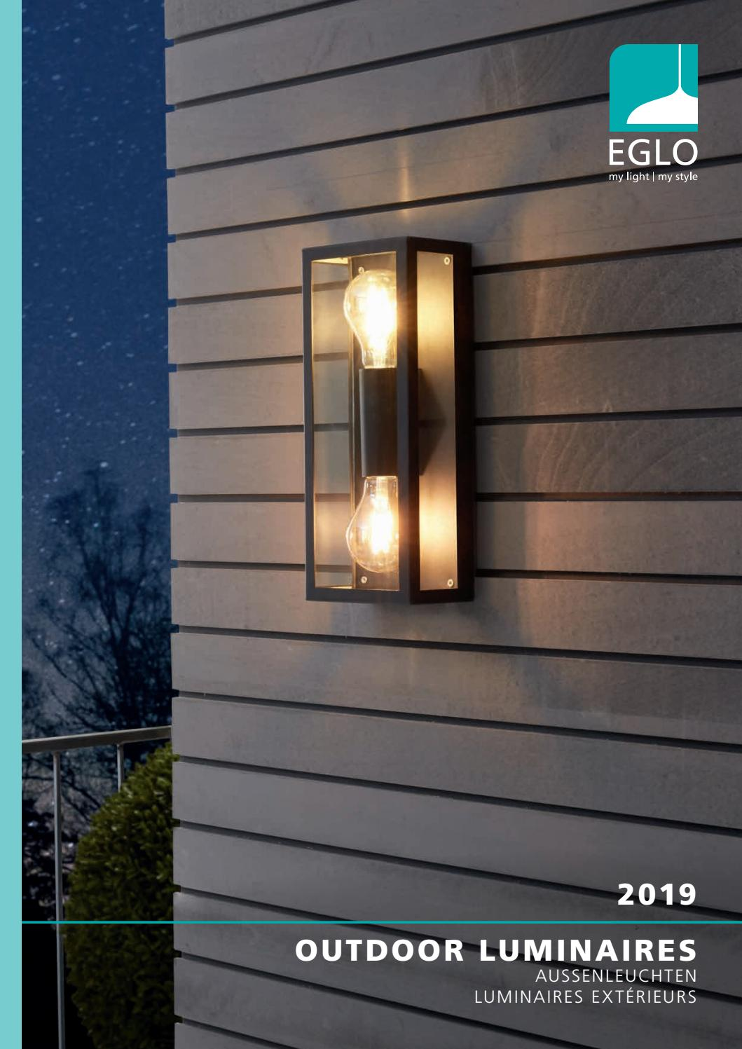 Eglo 88489 Milton Single Outdoor Wall Light Steel//Hot-Dip Galvanized//Glass//Clear