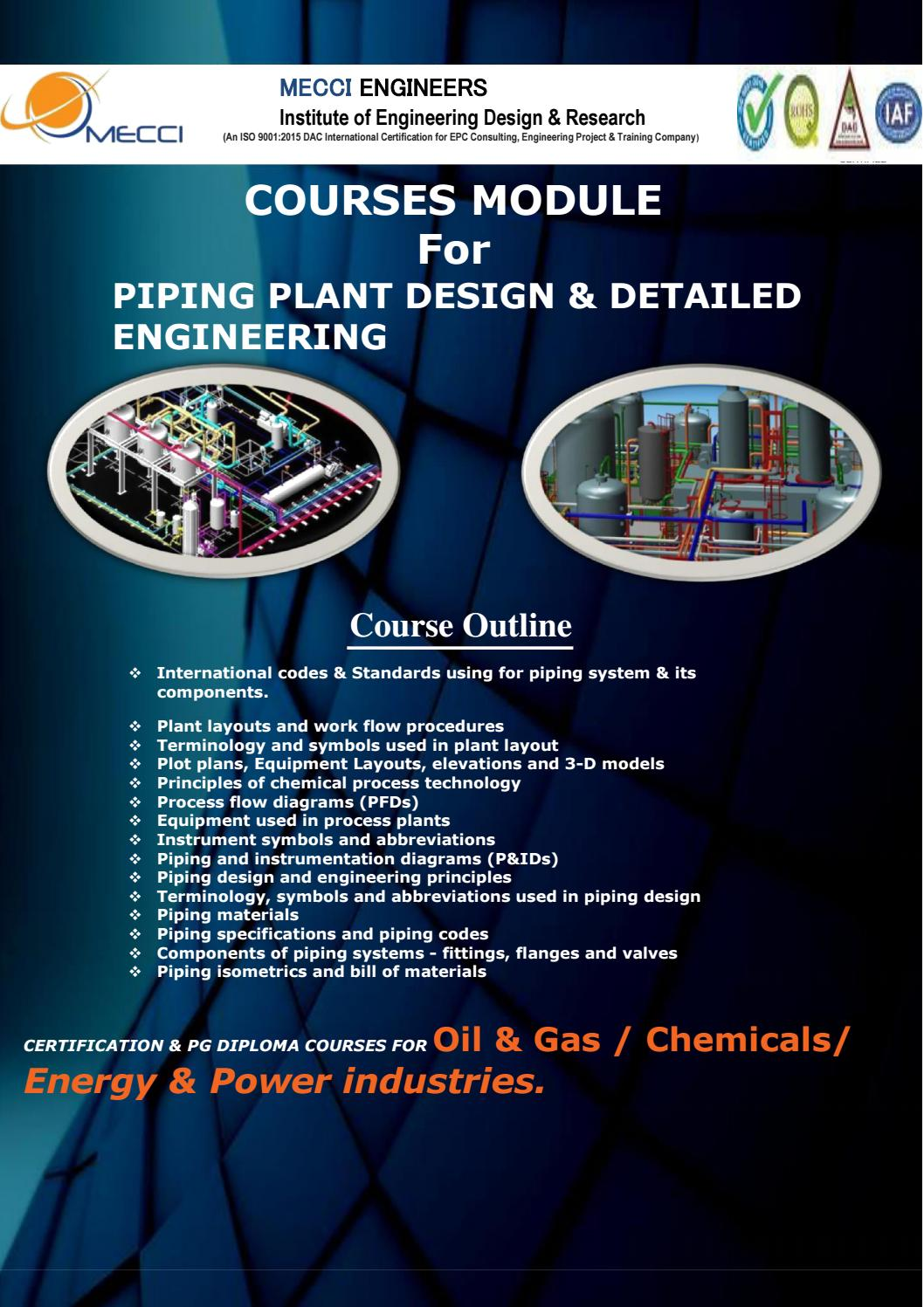 Piping Design Engineering Training By Mecci Engineers Issuu