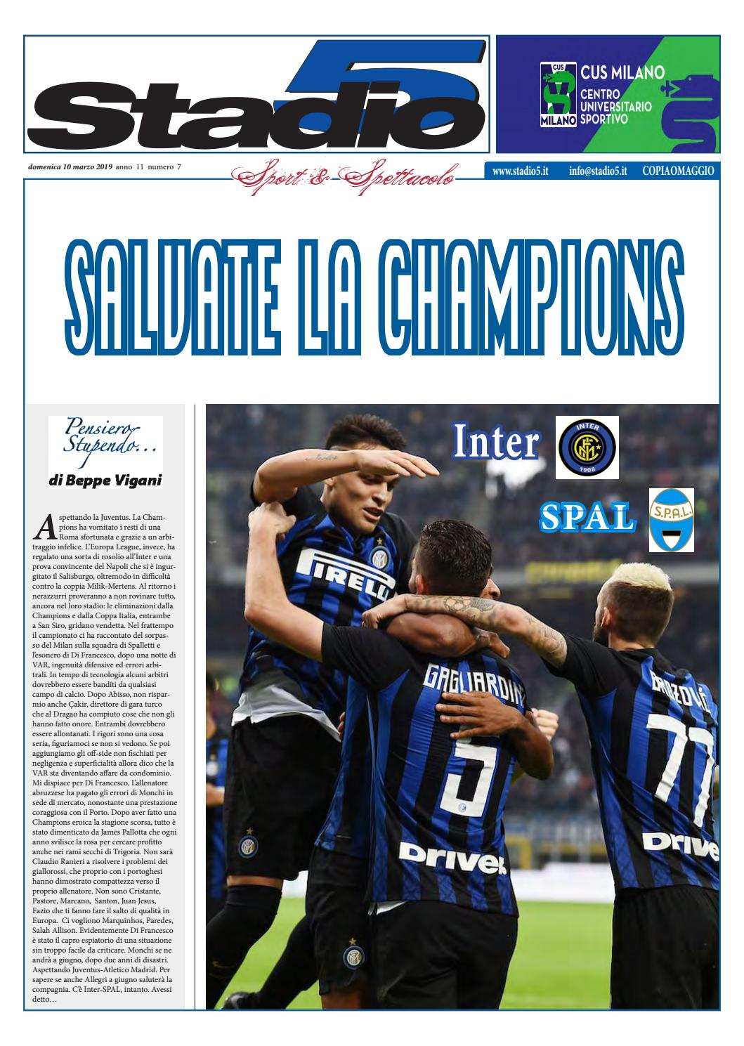 7aeb6d7876 Stadio5 n. 07 - 2019 Inter-Spal by Stadio5 Italia - issuu