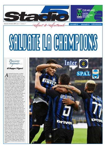 01a312149 Stadio5 n. 07 - 2019 Inter-Spal by Stadio5 Italia - issuu