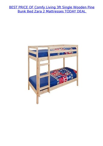 Best Price Of Comfy Living 3ft Single