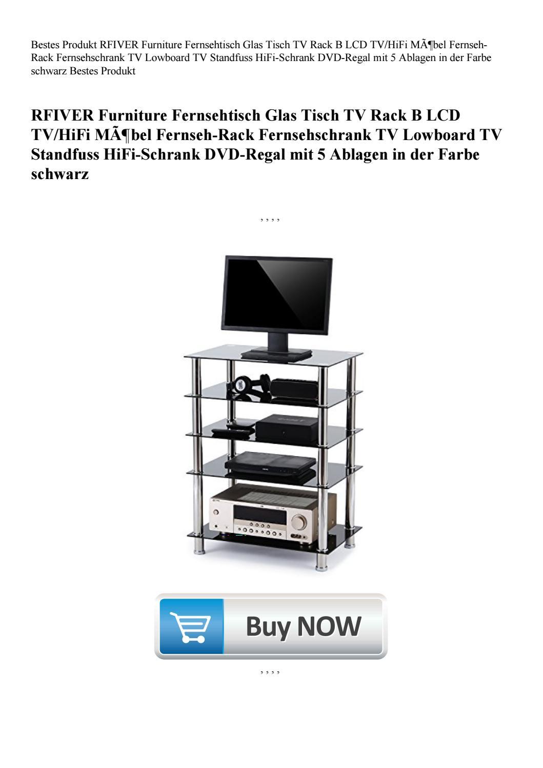 Bestes Produkt Rfiver Furniture Fernsehtisch Glas Tisch Tv Rack B