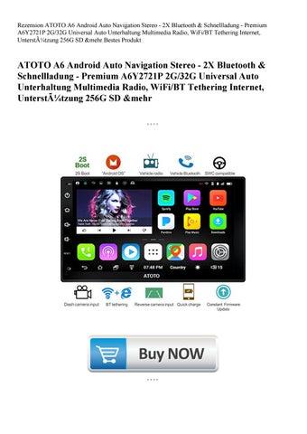 Rezension ATOTO A6 Android Auto Navigation Stereo - 2X Bluetooth