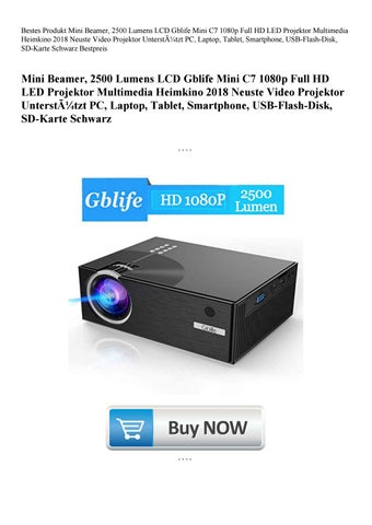 b377d94fe Bestes Produkt Mini Beamer, 2500 Lumens LCD Gblife Mini C7 1080p Full HD  LED Projektor Multimedia Heimkino 2018 Neuste Video Projektor Unterstützt  PC, ...