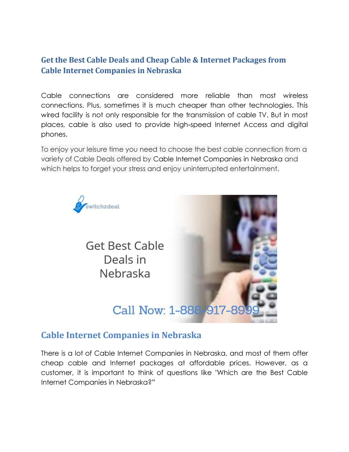 Get the Best Cable Deals from Cable Internet Companies in