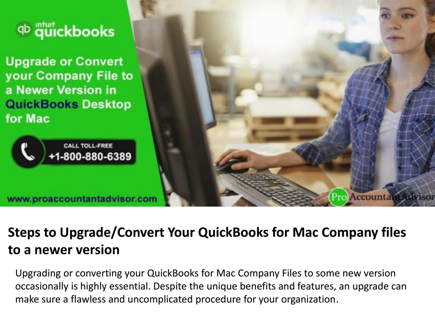 Upgrading your Company File to a Newer Version in QuickBooks