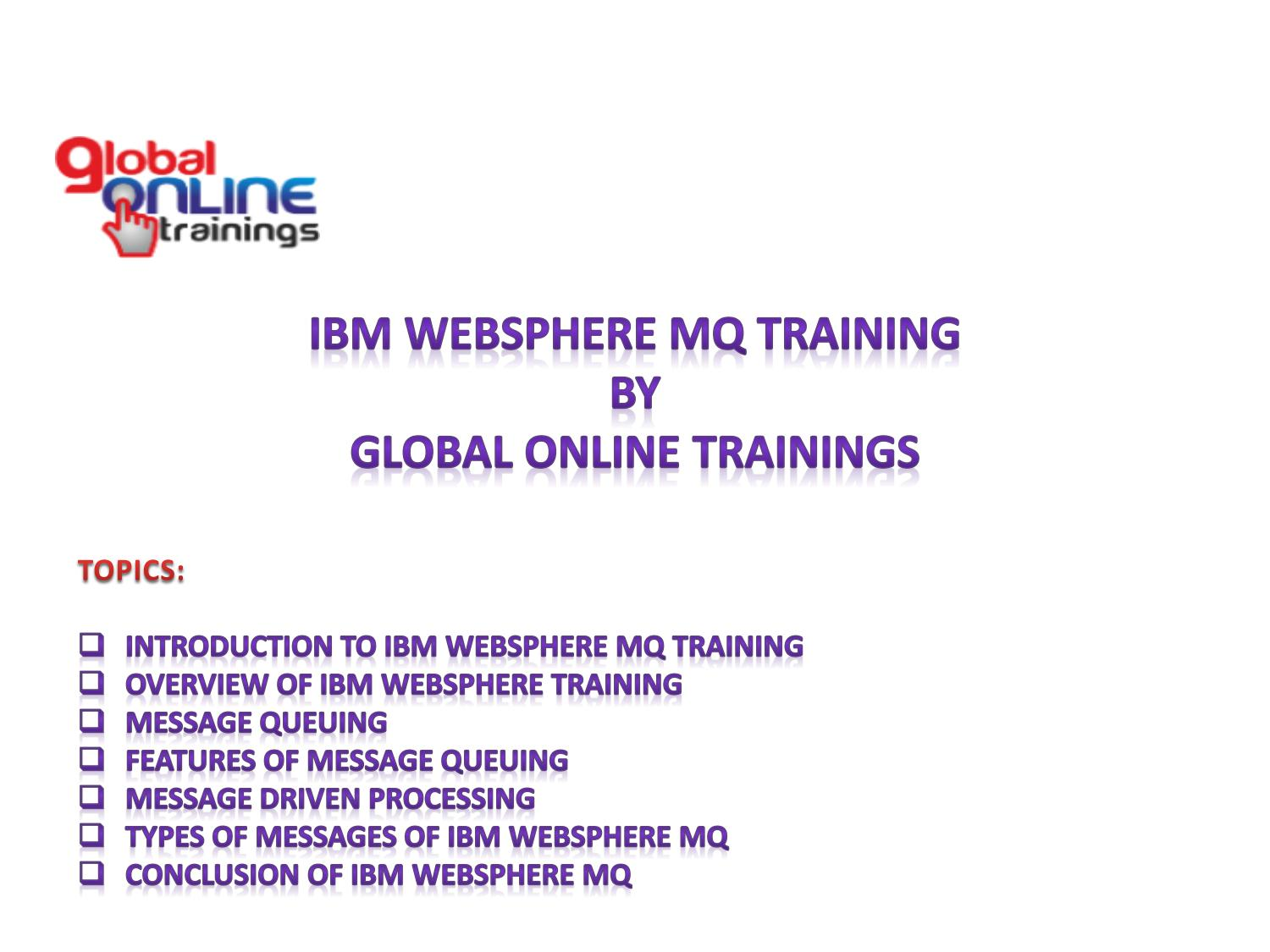 IBM WebSphere MQ Training | WebSphere MQ Online Training by